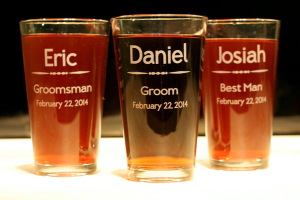 Wedding Party Glasses - Your design or ours