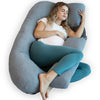 U-Shaped Pregnancy Pillow with Cooling Cover - PharMeDoc