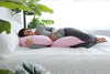 C-Shape Pregnancy Pillow (Light Pink) - PharMeDoc