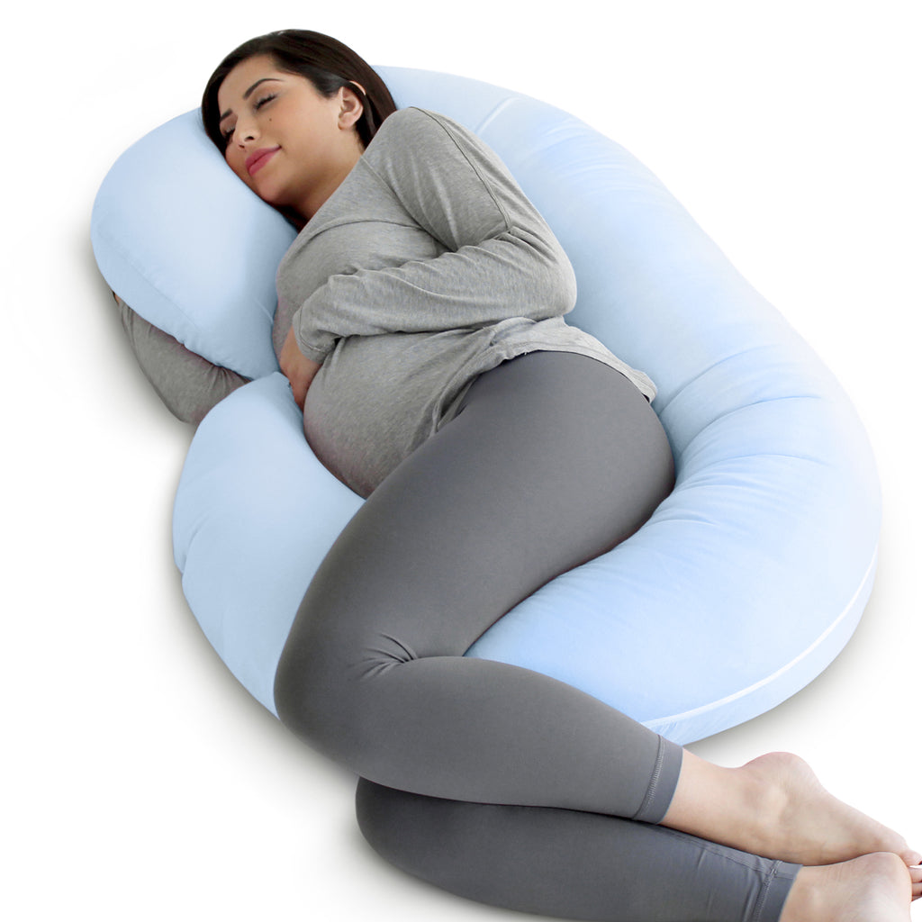 C-Shape Pregnancy Pillow (Light Blue)