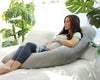 U-Shape Pregnancy Pillow (Grey Velvet) - PharMeDoc