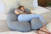 PharMeDoc U-Shaped Pregnancy Pillow with Cooling Cover