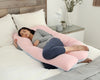 U-Shape Pregnancy Pillow (Pink + Blue) - PharMeDoc