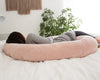C-Shape Pregnancy Pillow (Champagne Velvet) - PharMeDoc