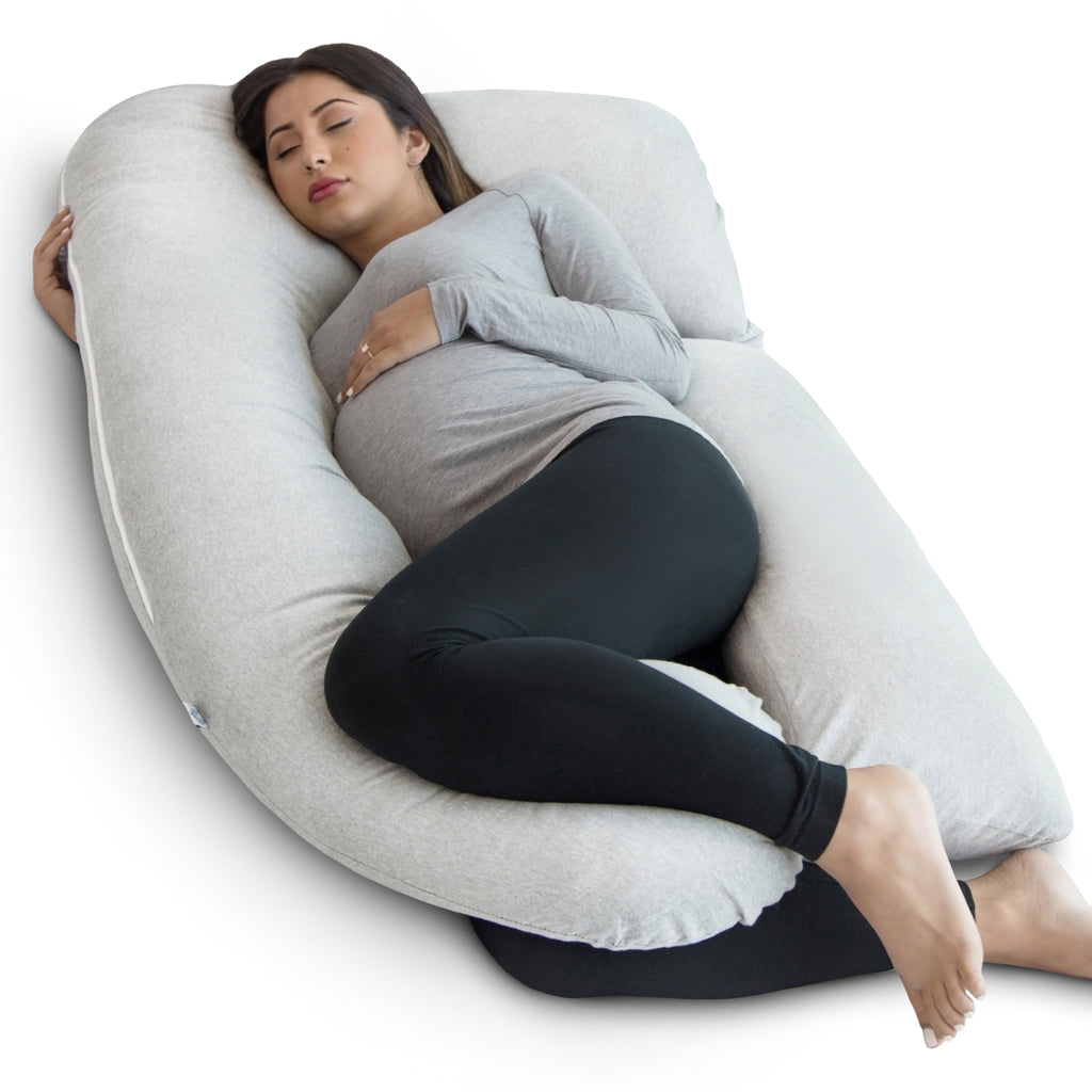 U-Shape Pregnancy Pillow (Light Grey) - PharMeDoc