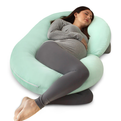 Mint Green Pregnancy Pillow (C-Shape) - PharMeDoc