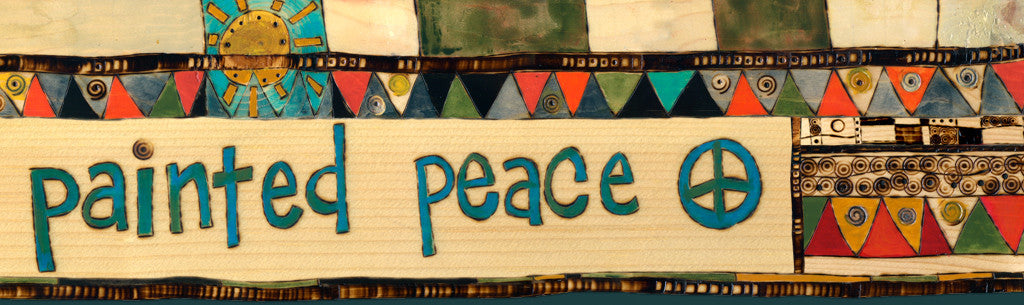 BUY DIRECTLY FROM ARTIST S. BURGESS, created of Painted Peace and the Art Pole