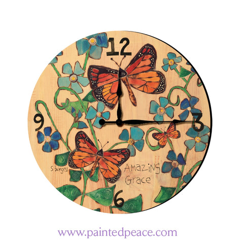 Amazing Grace 12 Solid Wood Wall Clock