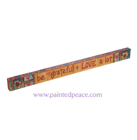 Be Grateful - Wooden Shelf Sitter