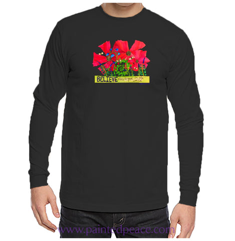 Believe There Is Good In The World Heartful Peace-Shirt Unisex Long Sleeve Black / Small T-Shirt