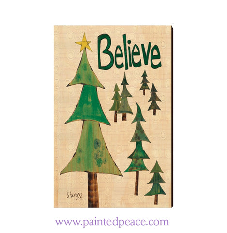 Believe Wooden Post Card