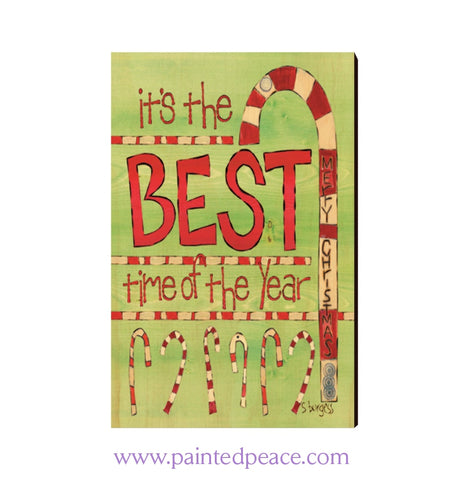 Best Time Of The Year Wooden Post Card