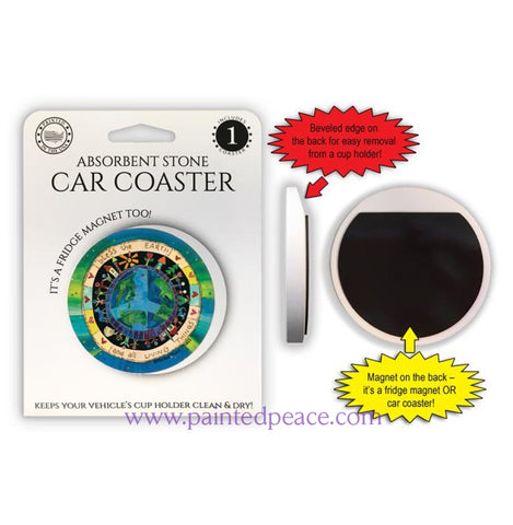 Bless The Earth - Car Coaster Or Magnet
