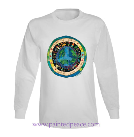 Bless The Earth Heart-Ful Long Sleeve Peace-Shirt / White Small T-Shirt