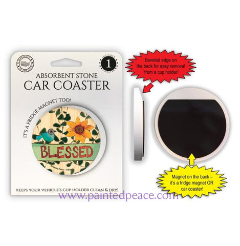 Blessed Car Coaster / Magnet