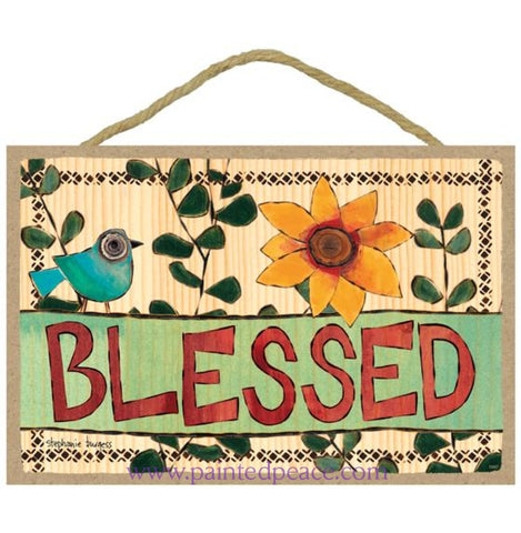 Blessed Wooden Sign