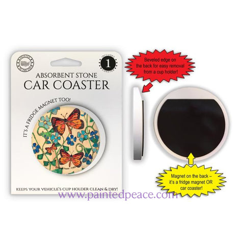 Butterfly Car Coaster / Magnet