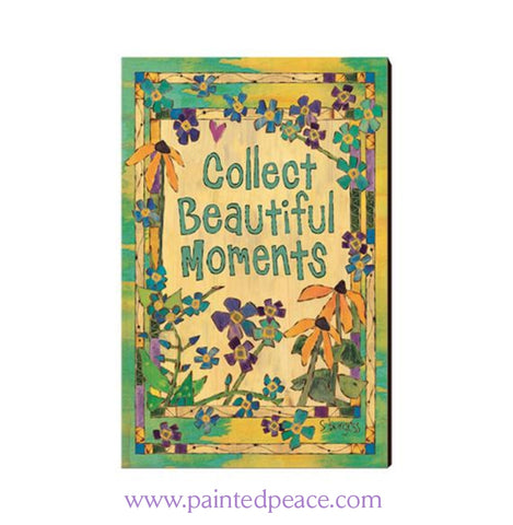 Collect Beautiful Moments Wooden Post Card Mini Art
