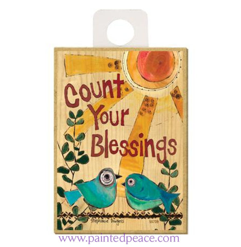 Count Your Blessings Wood Magnet - New