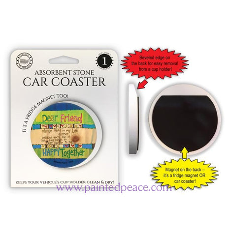 Dear Friend Car Coaster / Magnet