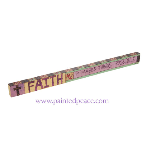 Faith - Wooden Shelf Sitter