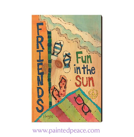 Fun In The Sun Wooden Post Card Mini Art
