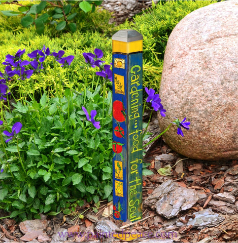 Gardening Food For The Soul Mini Art Pole 16 Inch