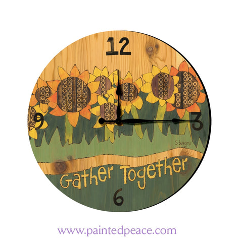 Gather Friends 12 Solid Wall Clock
