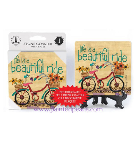 Life Is A Beautiful Ride Stone Coaster