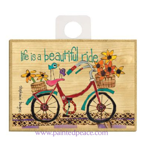 Life Is A Beautiful Ride Wood Magnet - New