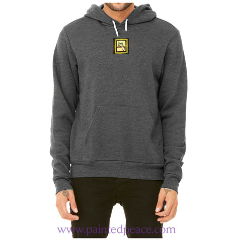 Live Simply Heartful Peace Hoodie Dark Grey Heather / X-Small Hoodie