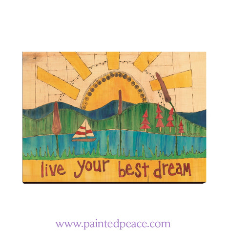 Live Your Best Dream Wall Art 12 By 18