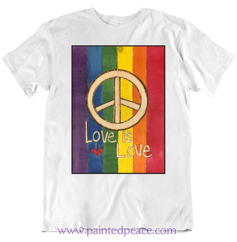 Love Is Heartful Peace-Shirt Classic / White Small T-Shirt