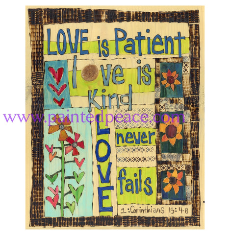 Love Is Patient Metal Print - 10 By 12
