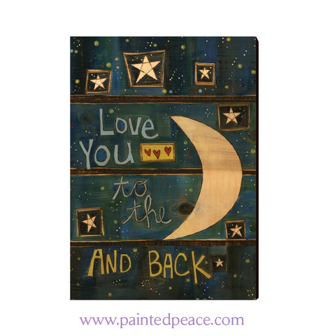 Love You To The Moon And Back Wall Art 12 By 18