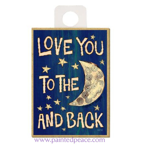 Love You To The Moon Wood Magnet - New