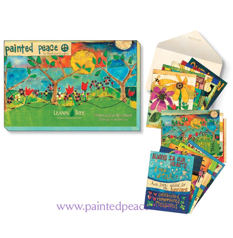 Painted Peace 20 Assorted Greeting Cards