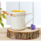 Peace And Happiness Handcrafted Mug 18 0Z