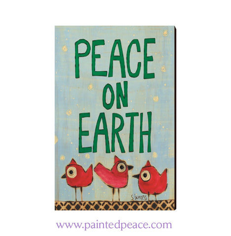 Peace Birds Wooden Post Card