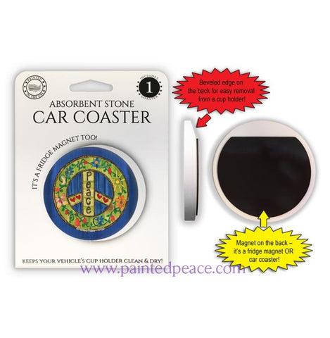 Peace Car Coaster / Magnet