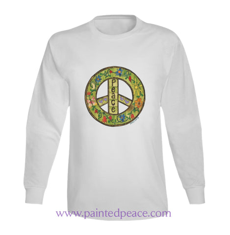 Peace Heart-Ful Long Sleeve Peace-Shirt / White Small T-Shirt