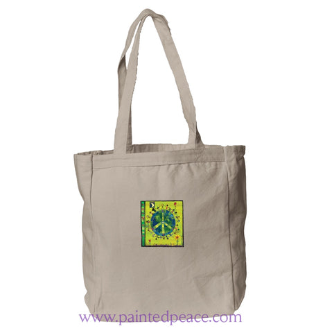 Peace On Earth Heartful Peace Book Tote One Size / Natural Book-Tote