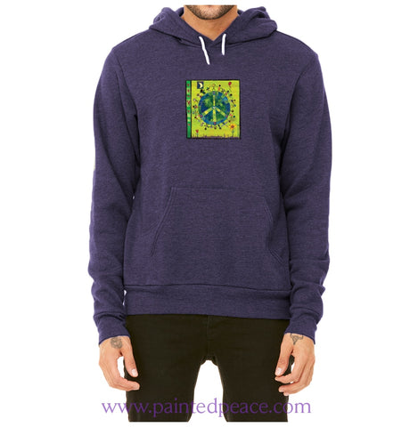 Peace On Earth Heartful Peace Hoodie Navy Blue / X-Small Hoodie