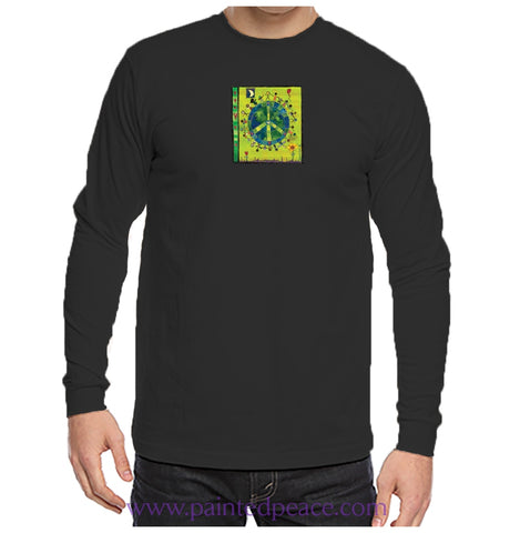 Peace On Earth Heartful Peace-Shirt Unisex Long Sleeve Black / Small Longsleeve T-Shirt