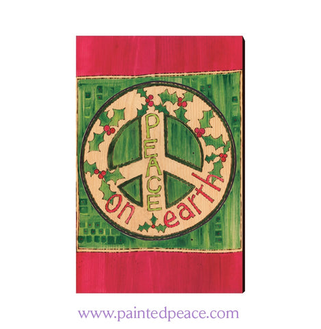Peace On Earth Wooden Post Card
