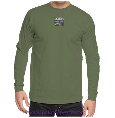 People That Love Each Other Heartful Peace-Shirt Unisex Longsleeve Small / Olive T-Shirt