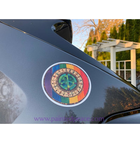 Rainbow Pride Car Magnet