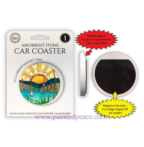 Sailboat Car Coaster / Magnet