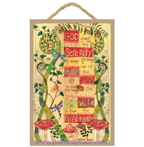 Serenity Prayer Wooden Sign