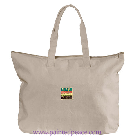 The Big Truth About Life Heartful Peace Tote Bag One Size / Natural Tote Bag